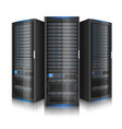 row network servers vector image vector image