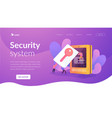 security access card landing page template