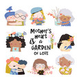 set cute for mothers day in vector image vector image