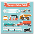 Set of all types of transport icon for creating vector image vector image