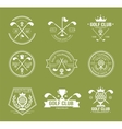 Set of golf club logos labels and emblems vector image vector image