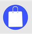 shopping bags on white circle vector image