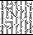simple black abstract circuit board pattern vector image