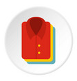 stack of clothing icon circle vector image vector image