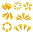 Stars burst icon set cartoon style Yellow star vector image