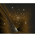 Stars on dark background vector image vector image