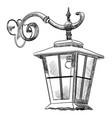 street lantern-2 vector image
