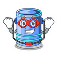super hero cylinder bucket isometric of for mascot vector image