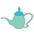 teapot hand drawn design on white background vector image vector image