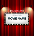 Theater sign Showtime Sign Theater cinema Sign vector image vector image