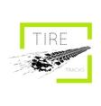 Tire tracks on white vector image