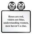 Understanding Women Poem vector image vector image