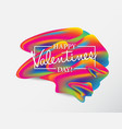 valentines day artistic hand drawn greeting card vector image