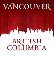 Vancouver British Columbia Canada city skyline sil vector image vector image