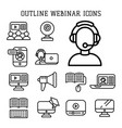 business webinar and online vector image