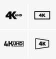 4k labels vector image