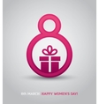 8th march card with present vector image