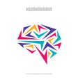 abstract human brain - business logo vector image