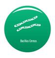 bacillus cereus icon green vector image vector image