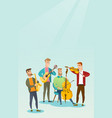 band of musicians playing musical instruments vector image