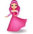 Beauiful girl cartoon vector image