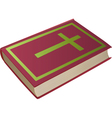 Bible with cross on cover vector image