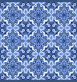 blue and white seamless pattern vector image