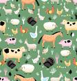 bright pattern farm animals vector image