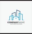 business building logo modern real estate vector image