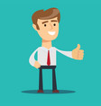 business man give thumb up sign vector image