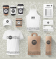 cafe merchandise or coffee items mockups vector image vector image