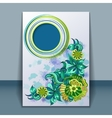 Card with filigree hand-drawing ornaments vector image vector image
