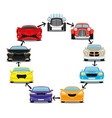 cars on a white background vector image