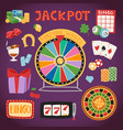 casino game gambling symbols blackjack cards money vector image vector image