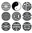 chinese logos vector image vector image