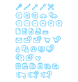 Cleanse Icons Set vector image