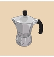 Coffee maker geyser vector image vector image