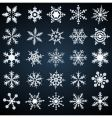 Cold crystal gradient snowflakes set vector image vector image