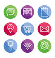 collection icons web shopping online buttons vector image vector image