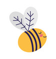 cute bee insect little animal cartoon isolated vector image