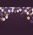 dark purple balloons with white balloons on a vector image