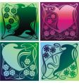 decorative backgrounds vector image vector image