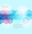 design brochure template abstract background vector image vector image