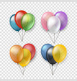 different color flying balloon groups clipart vector image vector image