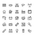 Electronics Colored Icons 5 vector image vector image