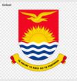 emblem of kiribati vector image vector image
