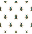 emerald and gold beetle brooch seamless vector image vector image