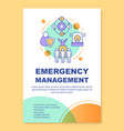 emergency management poster template layout
