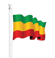 ethopia flag vector image vector image