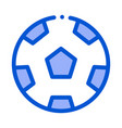 football playing ball outline vector image